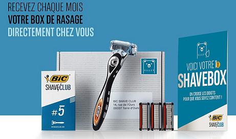 Abonnement mensuel à la box de rasage BIC