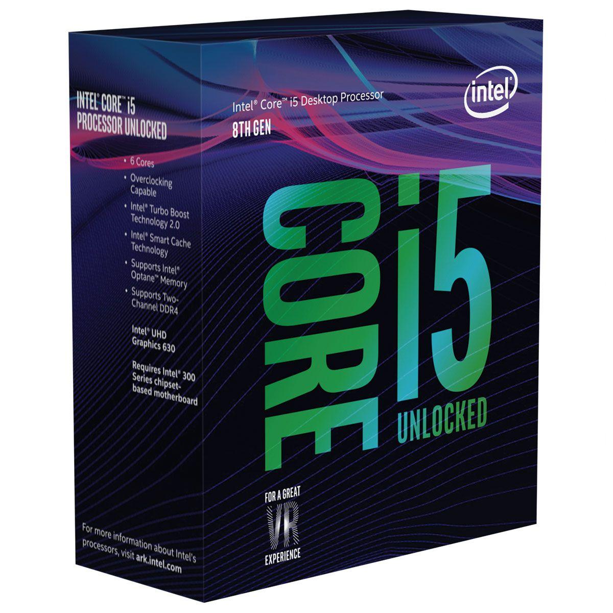 Processeur intel-core i5-8600k 3,6Ghz / 4,3Ghz