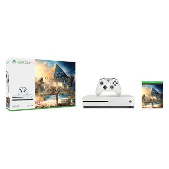 [Adhérents] Pack Console Xbox One S - 500 GO + Assassins's Creed + Halo 5 + 130€ sur la carte adhérent