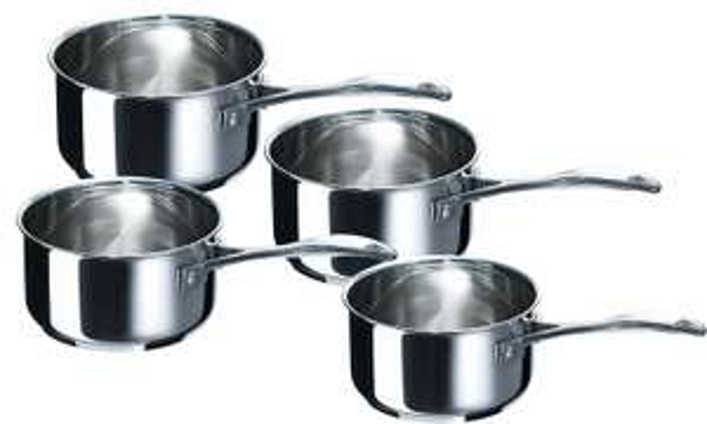 Série de 4 Casseroles en acier Inoxydable Bekaline 12066984 Chef