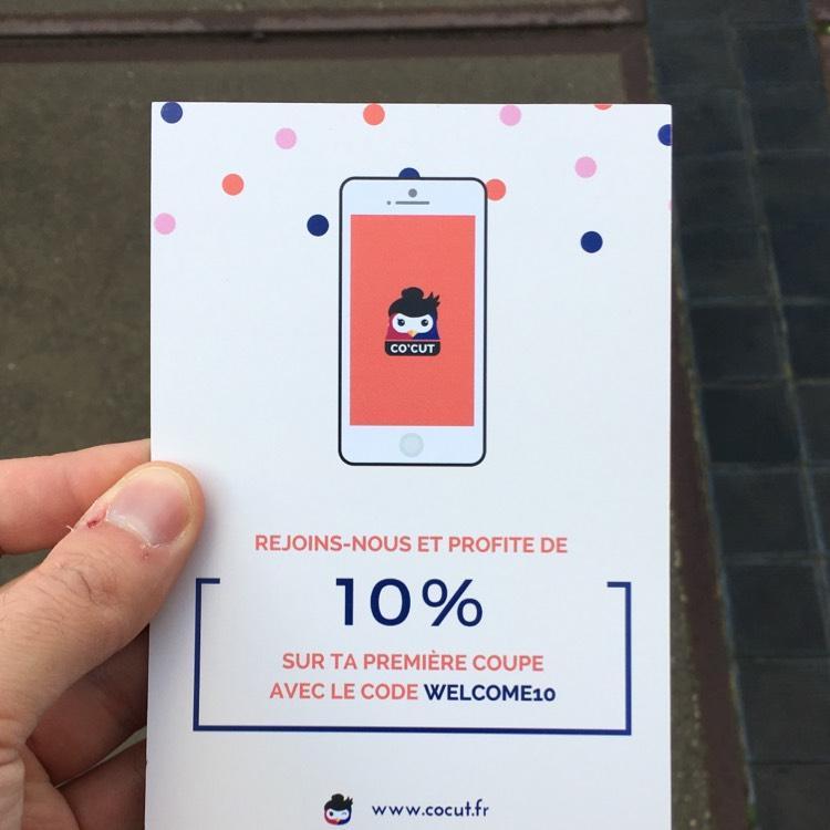 [Nouveaux clients] 10% de remise sur votre premier RDV - App Co'Cut Lille (59)