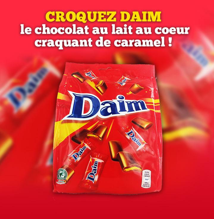 Bonbons chocolat / caramel Daim (via shopmium)