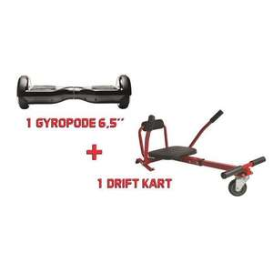 Pack  Hoverboard + Kit Kart - Super Drift Pack Rouge