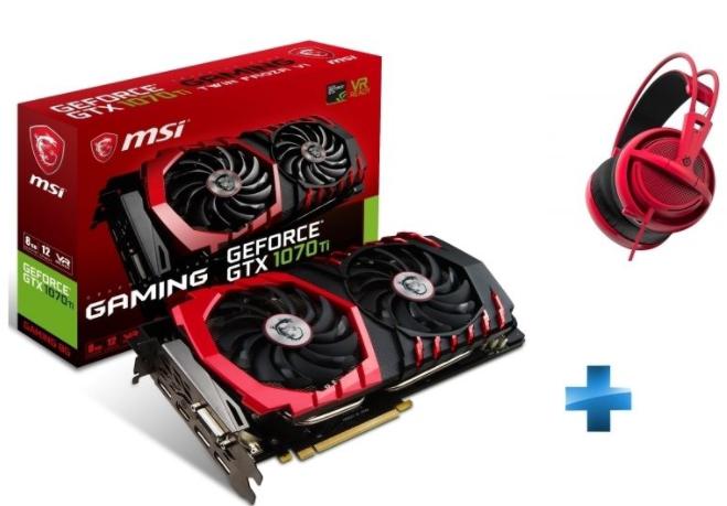Carte graphique MSI GeForce GTX 1070 Ti Gaming 8Go + Casque Siberia 200