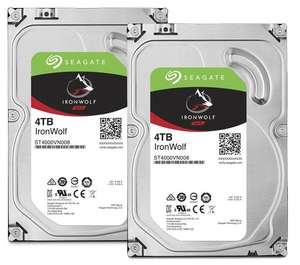 "Lot de 2 Disques Durs Internes 3.5"" Seagate Ironwolf pour NAS - 2 x 4 To"
