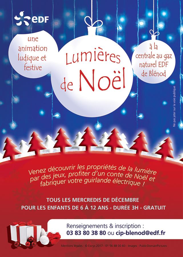 """Animations """"Lumières de Noël"""" + Fabrication d'une guirlande lumineuse gratuite - Blénod (54)"""