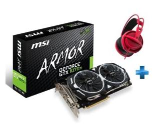 Carte graphique MSI GeForce-GTX 1070 Ti ARMOR 8 Go + Casque Siberia 200