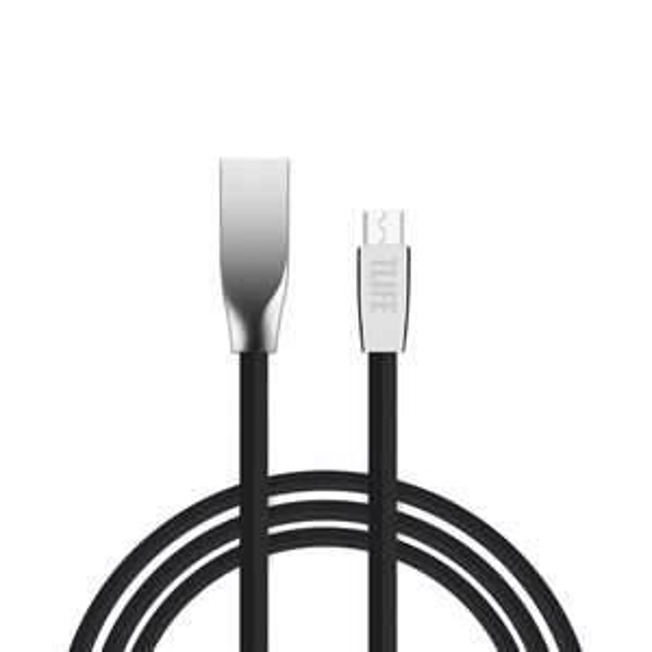 Câble plat Micro USB ou Lightning TLIFE - Noir ou Blanc (1m)
