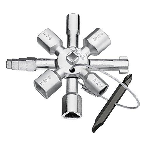 Clé multi-fonction pour armoire électrique Knipex TwinKey