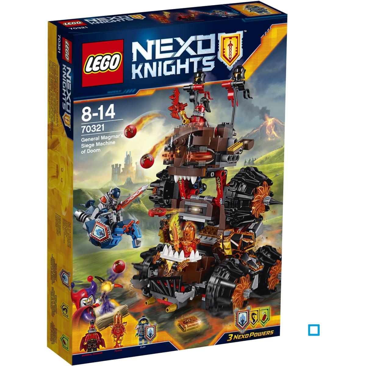 Jouet Lego Nexo Knights - La machine maudite du Général Magmar (70321)
