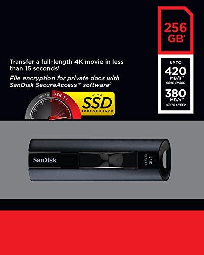 Clé USB 3.1 Sandisk Extreme pro 256 Go