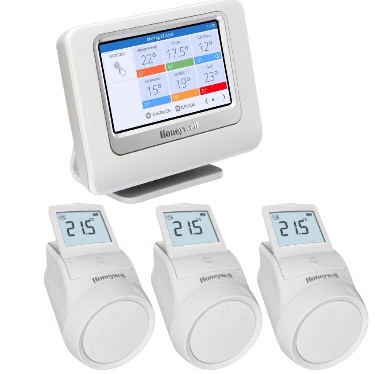 Pack de régulation sans fil Honeywell THR993RT pour Radiateur - 3 zones