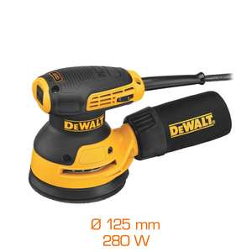 Ponceuse excentrique Dewalt DWE6423-QS - 280W, Ø125 mm