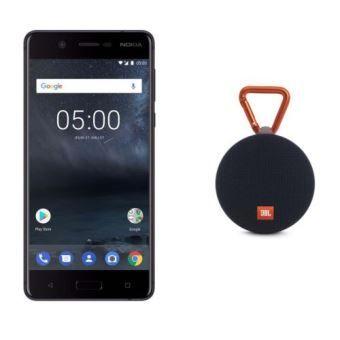 Smartphone Nokia 5 16 Go Noir satin + Enceinte Portable JBL Clip 2 Noire