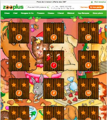 Calendrier de l'avent Zooplus : 1 surprise chaque jour en Décembre
