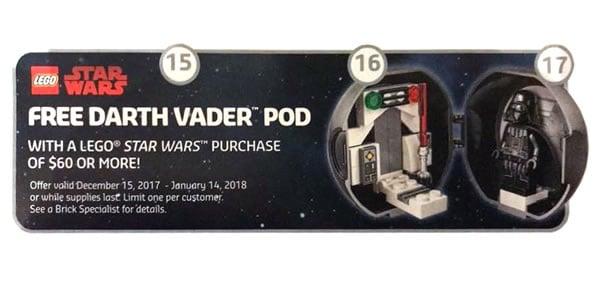 Mini Etoile Noire Lego Star Wars Dark Vador offerte dès 55€ d'achat (Tous les marchands)