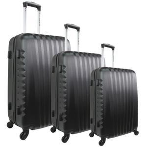 Set de 3 valises rigides Zifel Santiago - 50, 60 et 70 cm, noir