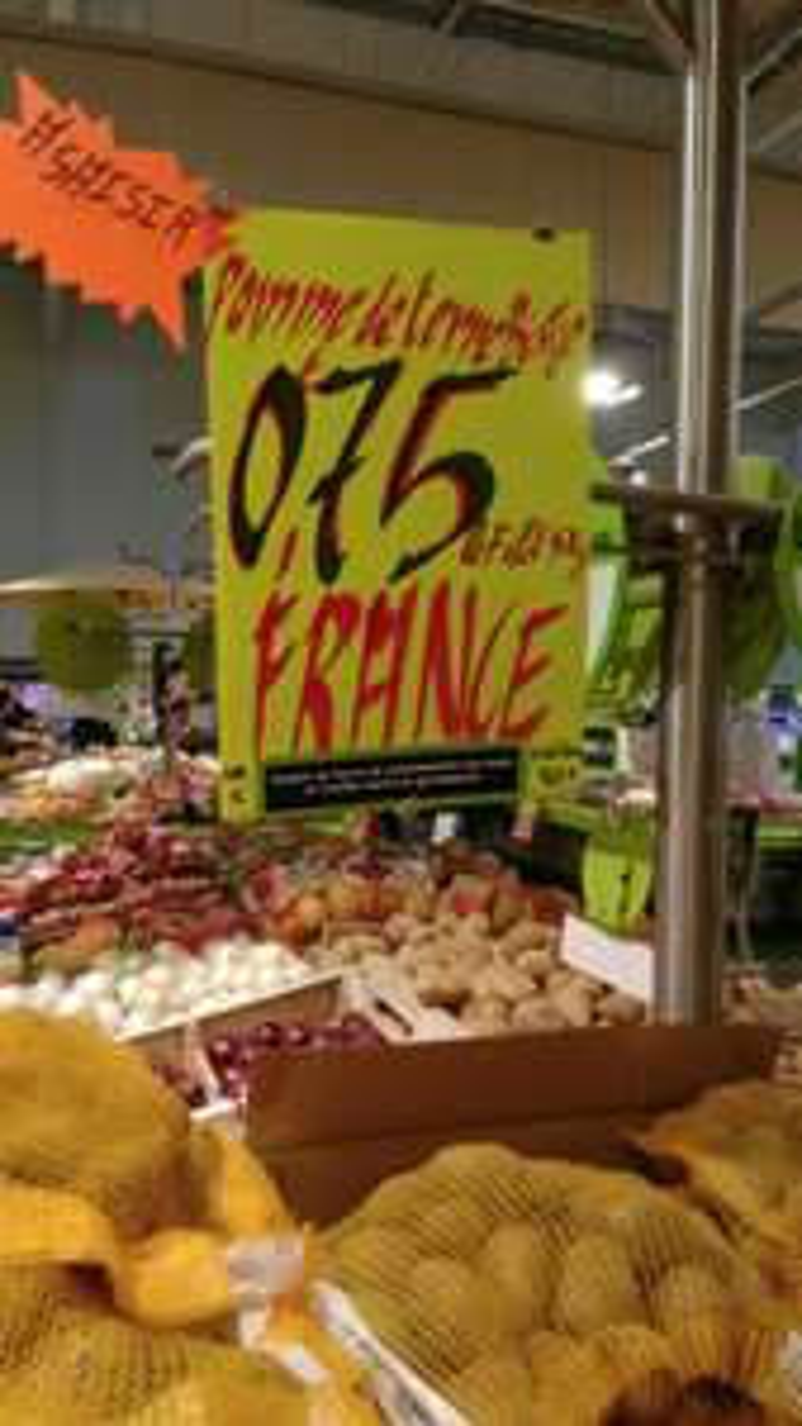 Filet de 5 Kg de pommes de terre Bintje -  Origine France (Viriat - 01)