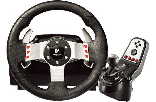 Ensemble Volant + pédales + levier de vitesse Logitech G27 pour PC,PS2 et PS3