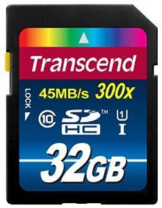 Carte mémoire SDHC Transcend 32 Go Classe 10 UHS-I 300x