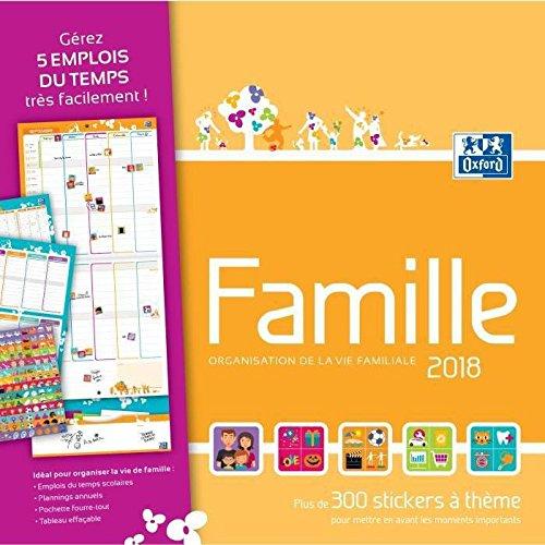Calendrier organisateur mensuel Oxford Famille 2018