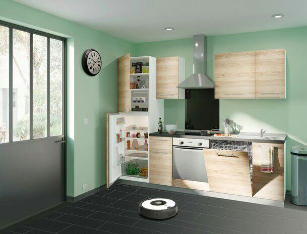 Cuisine équipée (réfrigérateur, lave vaisselle, hotte, évier ...