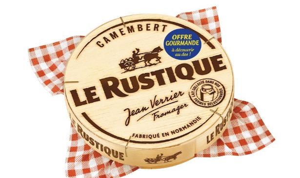 5 Camembert Le Rustique Gratuit - 5x250g (via BDR + Appli)