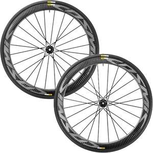 Paire de roues + pneus route performance Mavic Cosmic Pro Carbon Disc
