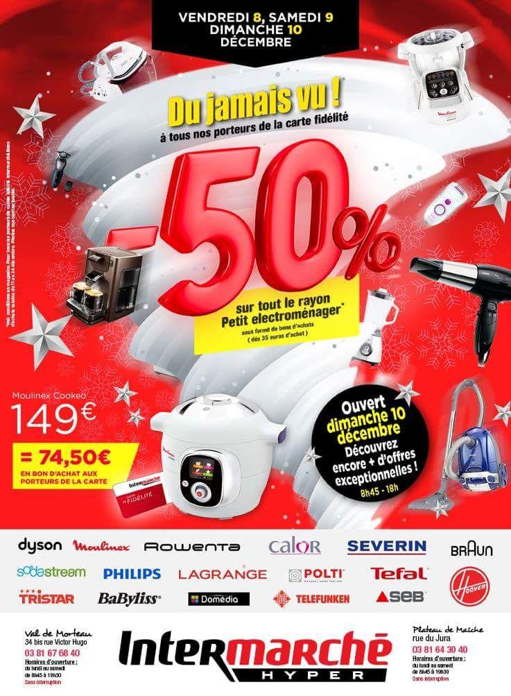 50% offerts en bon d'achat dès 35€ sur tout le rayon électroménager - Morteau (25)