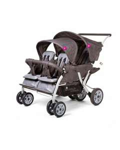Poussette quadruple ChildWheels - Anthracite