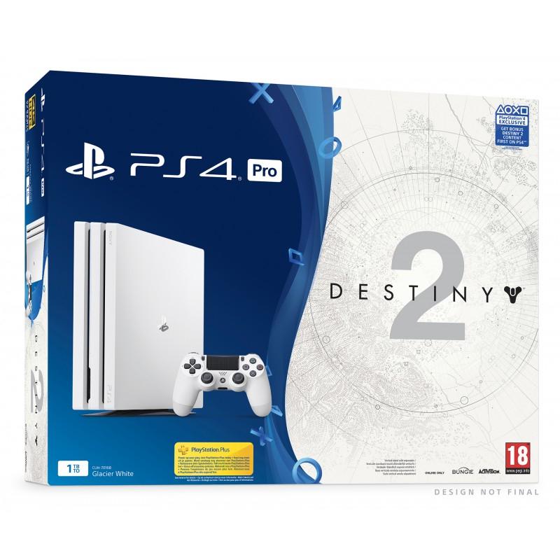 Sélection de packs PS4 Pro 1To en promotion - Ex: Console PS4 Pro 1 To - Blanc + Destiny 2 (Pass extension inclus) + Crash Bandicoot