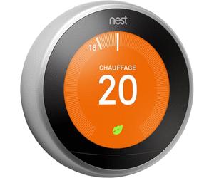 Thermostat connecté Nest Learning Thermostat (3ème génération) + socle + installation complète (+ 75€ en crédit d'impôt)