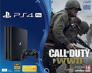 Console Sony PS4 Pro 1To noire + Call of Duty: World War II