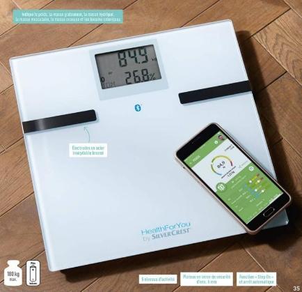Pèse-personne / impédancemètre SilverCrest HealthForYou