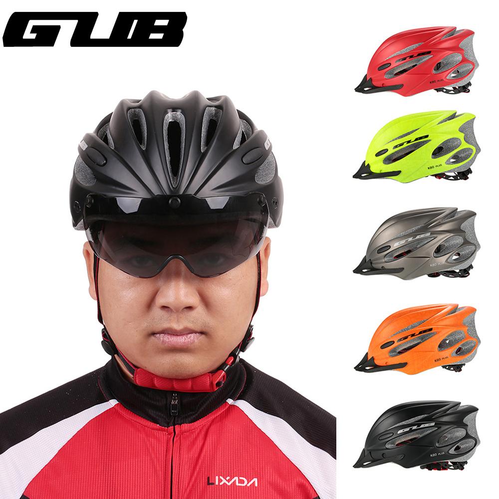 Casque de vélo avec visière de pluie / lunettes de soleil intégrées Gub K80 Plus - différents coloris