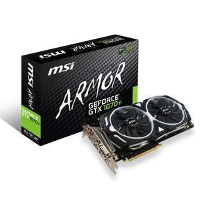 Carte graphique MSI GeForce GTX 1070 Ti Armor - 8 Go