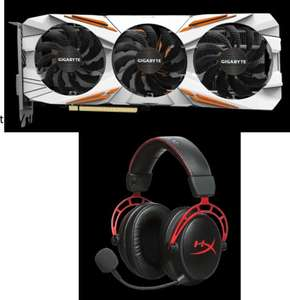 Carte graphique Gigabyte Nvidia GeForce GTX 1080 Ti Gaming OC - 11 Go (GV-N108TGAMING OC-11GD) + Casque HyperX Cloud Alpha (Frontaliers Allemagne)