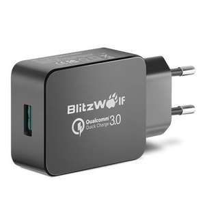 Chargeur BlitzWolf BW-S5 - Quick Charge 3.0, 18W, Qualcomm Certified - Noir ou Blanc