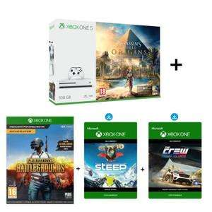 Sélection de packs Xbox One S en promotion - Ex : Console Microsoft Xbox One S (500 Go) + Assassin's Creed Origins + The Crew + PlayerUnknown's Battlegrounds + Steep
