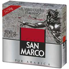 Lot de 2 paquets (2 x 250grs) de café moulu San Marco