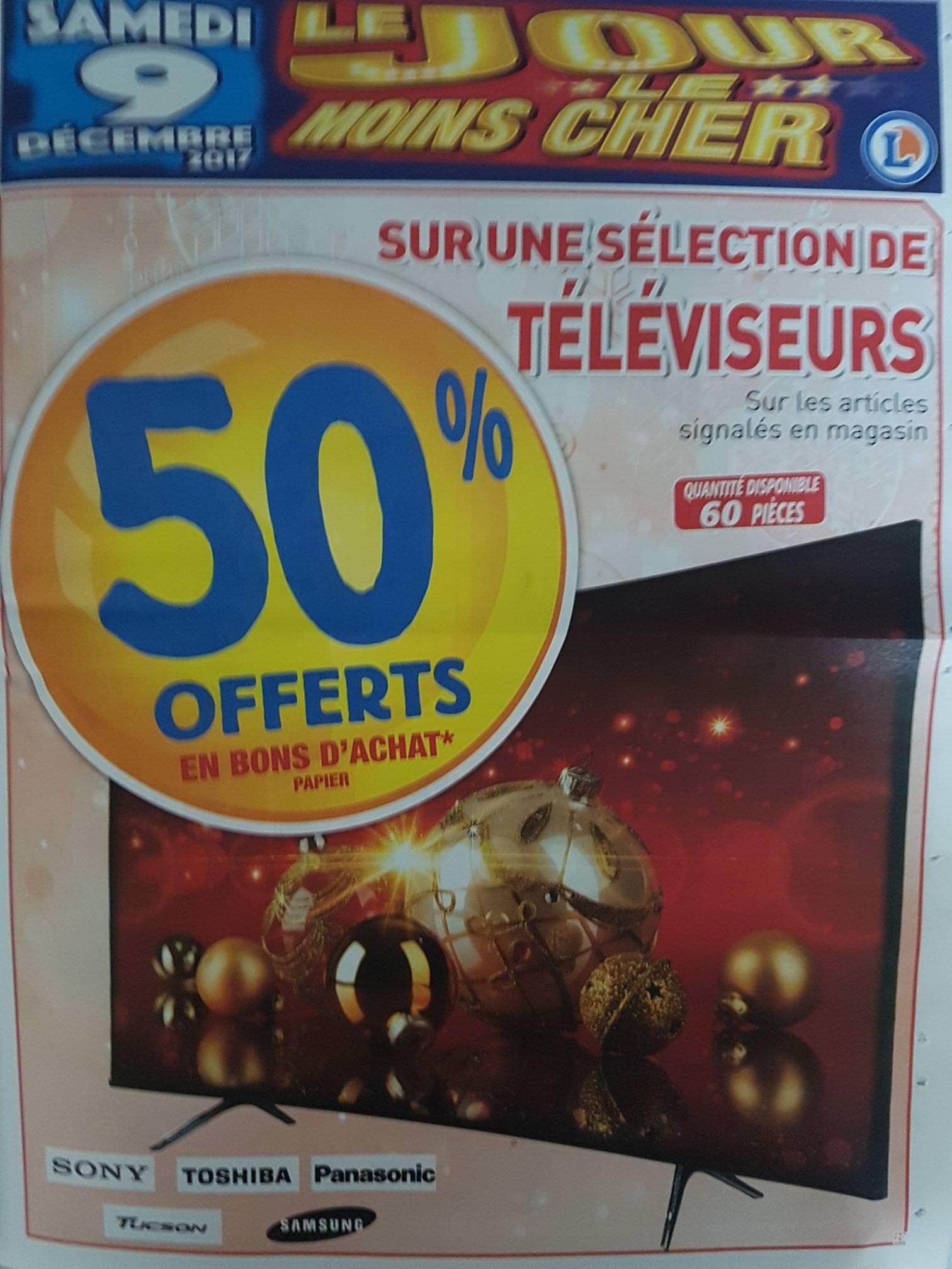 50% offerts en bon d'achat sur une sélection de TV - Cahors (46)
