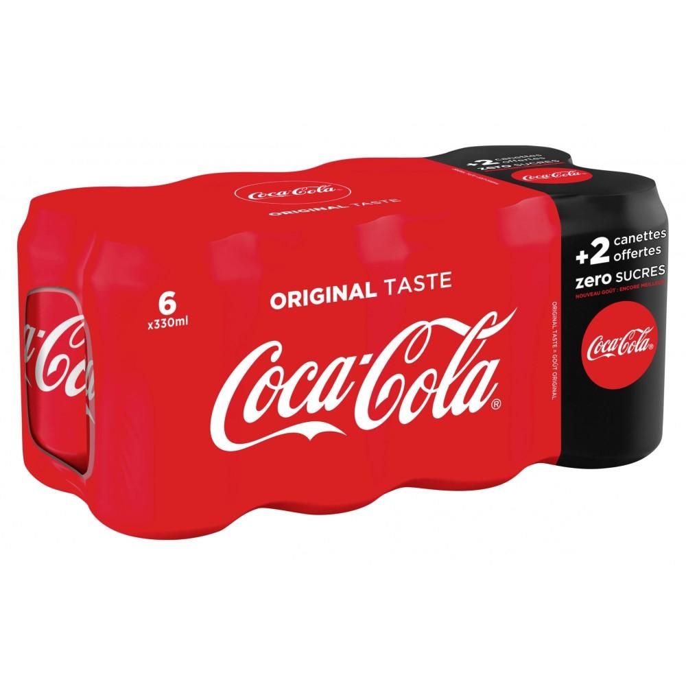 Lot de 8 canettes de Coca Cola 8*33cL