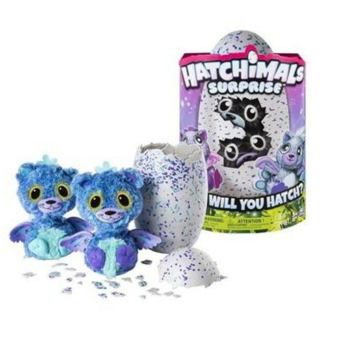 Oeuf Hatchimals Surprise Jumeaux bleu violet
