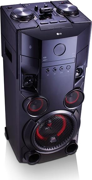 Chaîne HiFi verticale LG OM5560 - avec platine DJ, Bluetooth, 500 W RMS (via ODR de 20€)