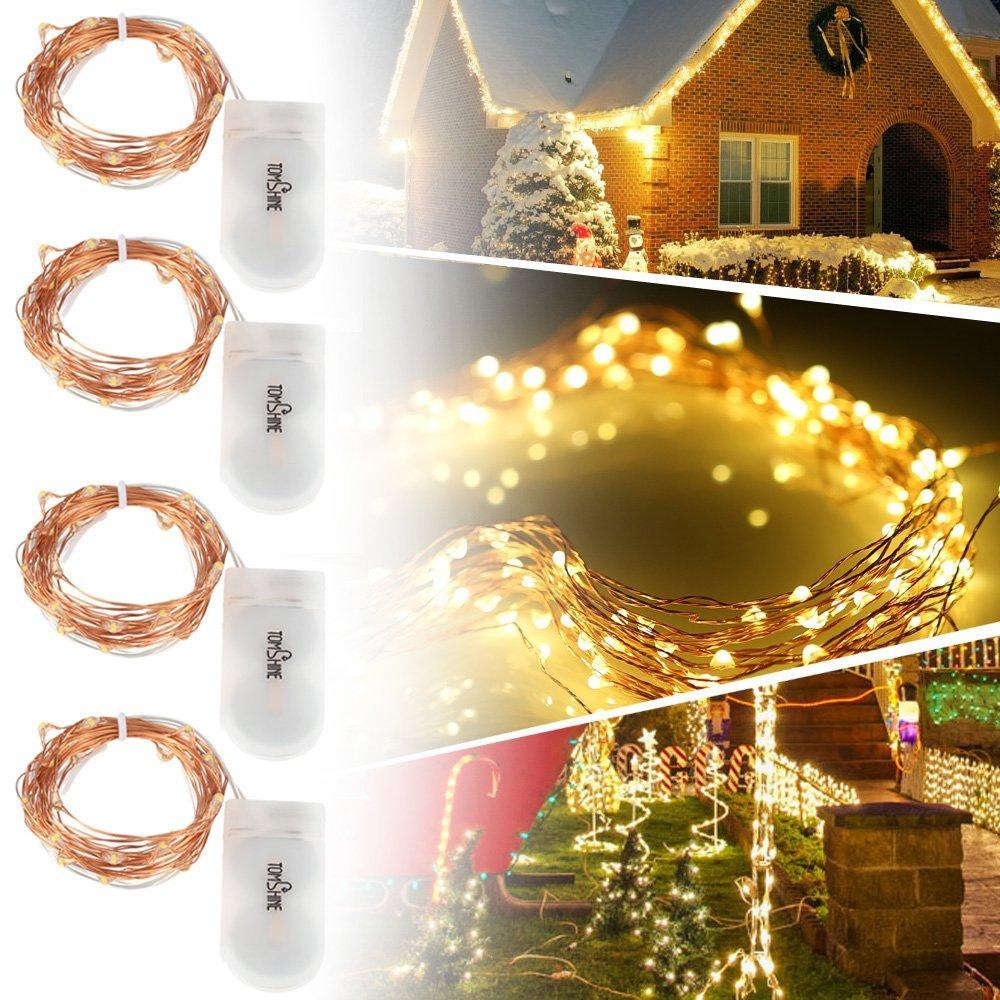 Lot de 4 Guirlandes Lumineuses à piles 20 LED (vendeur tiers)