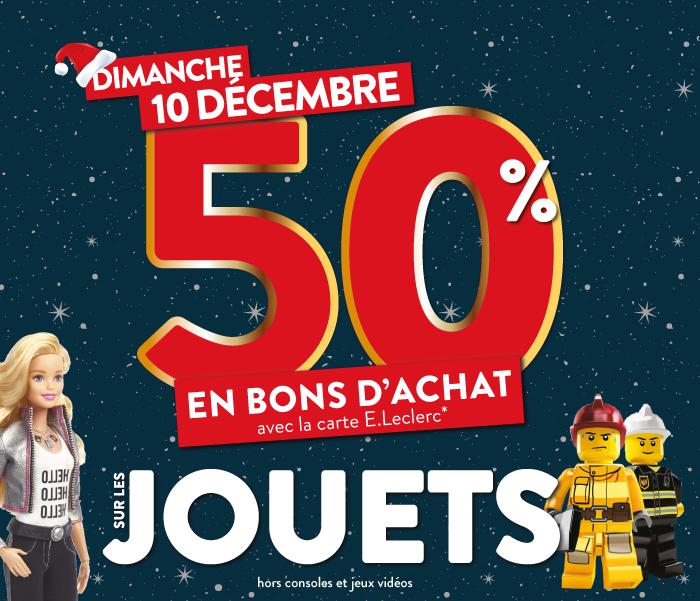 50% crédités en tickets Leclerc sur les jouets - Sainte Eulalie (33)