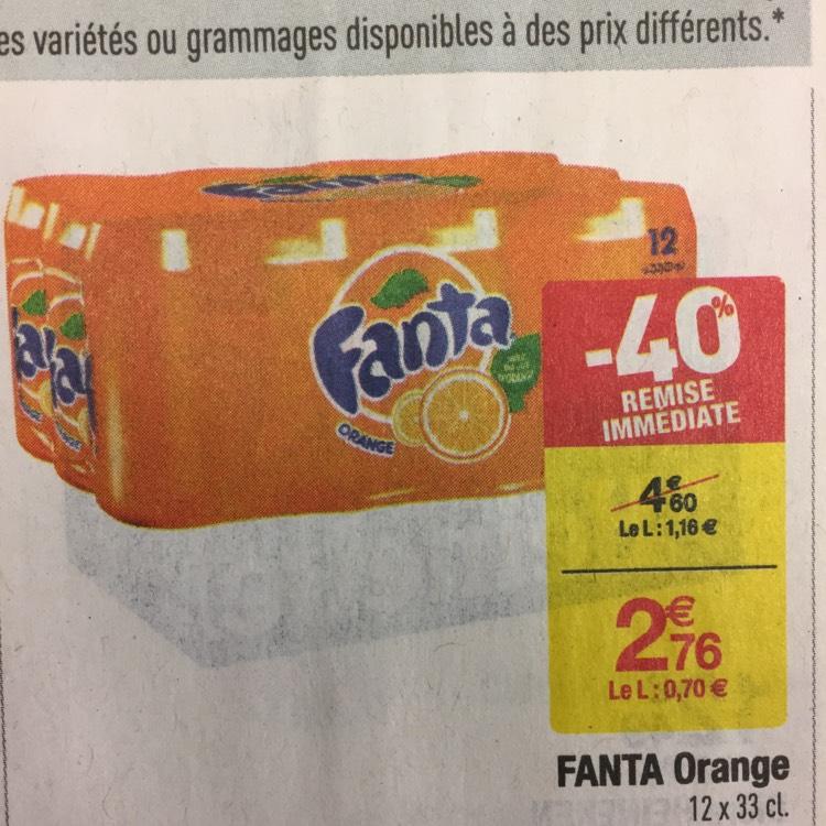 Pack de 12 canettes de Fanta (33 cl)