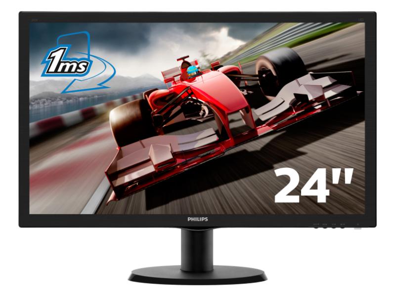 "Ecran 24""  Full HD Philips -  243V5LHSB5 1ms VGA/DVIHDMI"