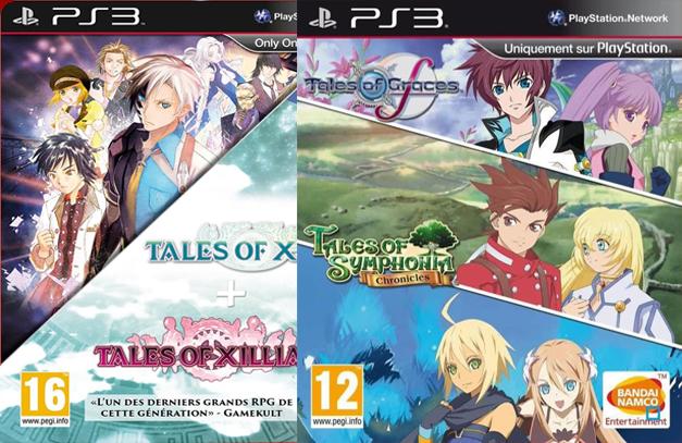 Bundle Tales Of (Symphonia Chronicles + Graces + Xillia 1 + Xillia 2) sur PS3