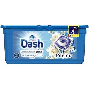 Lessive 30 capsules Dash 2 en 1 Perles (via BDR de 3€)